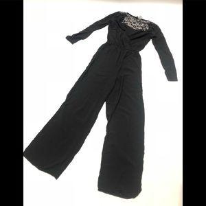 💙 H&M black lace jumpsuit 6
